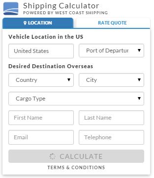 International Car Shipping Calculator