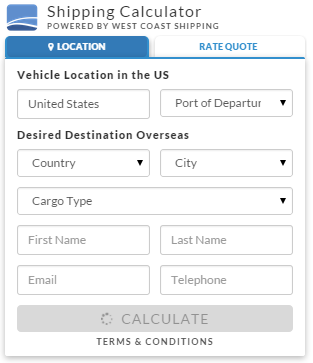 International Car Shipping Calculator