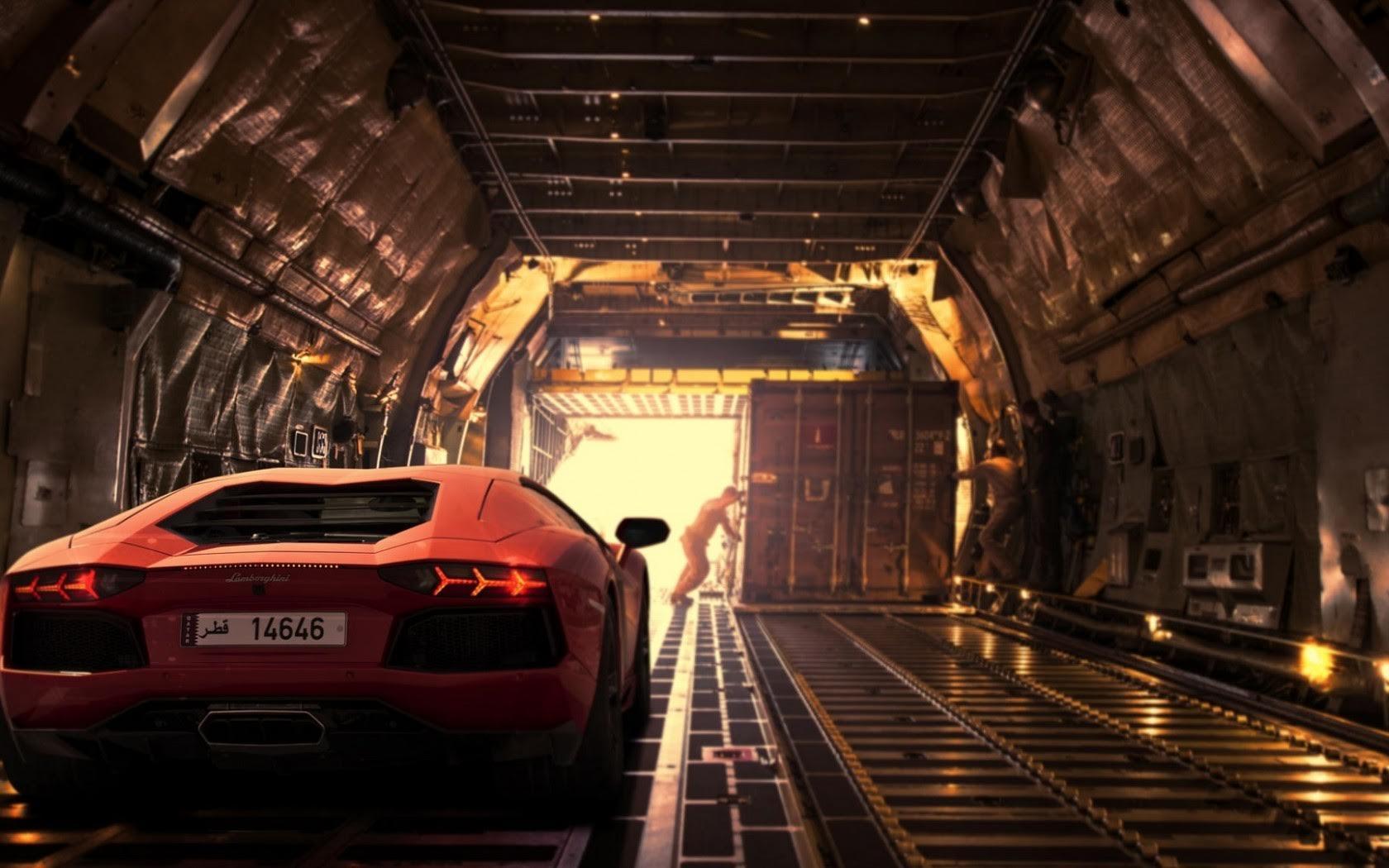 Ship Lamborghini Aventador by air freight service