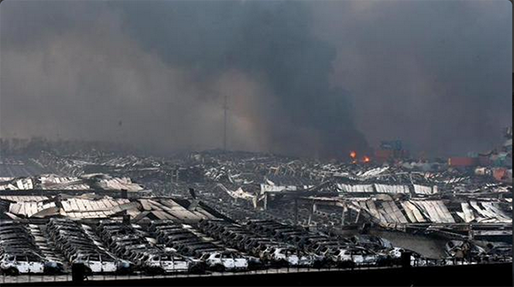 tianjin port shipping container explosion