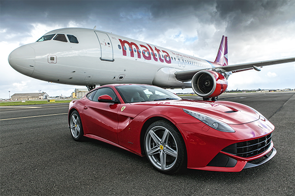 Ferrari shipped via air freight from the USA to the Middle Easta