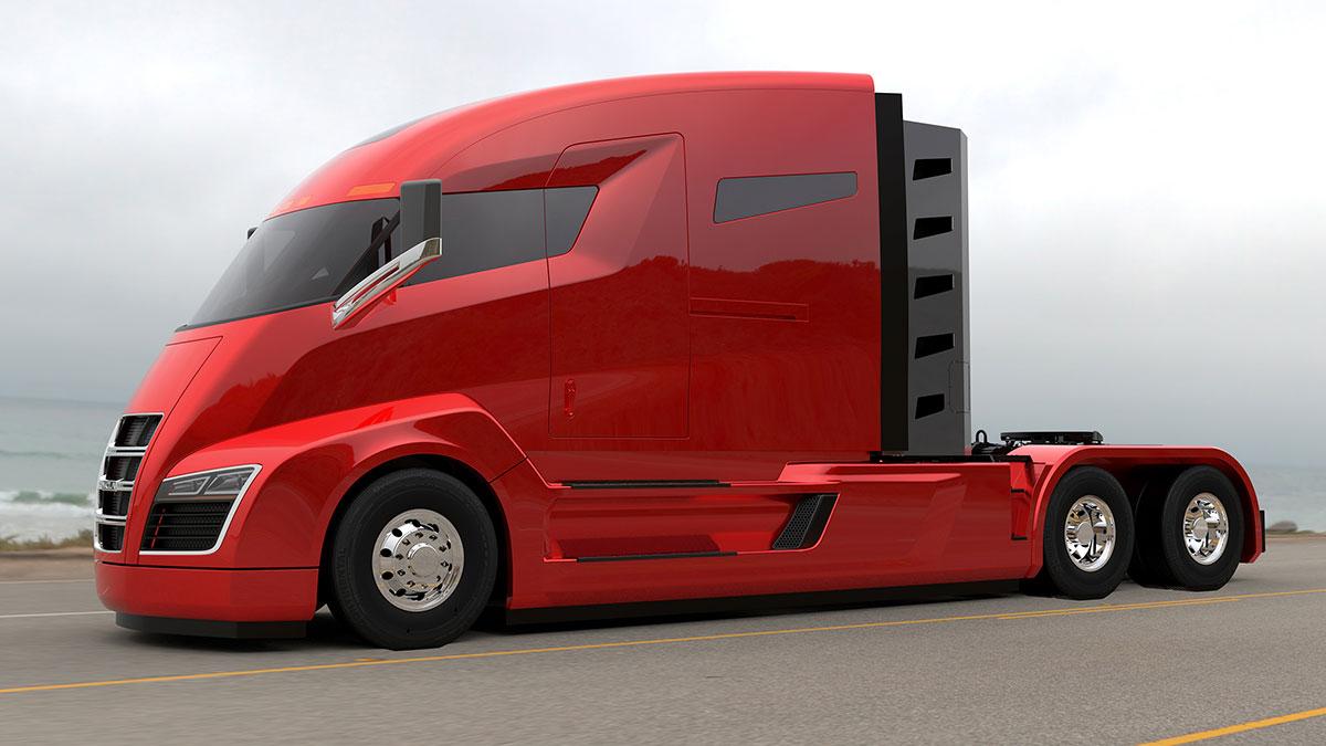 Nikola One zero emission truck Oakland drayage trucking