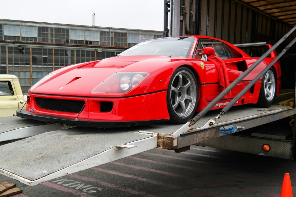Ferrari F40 LM being shipped overseas