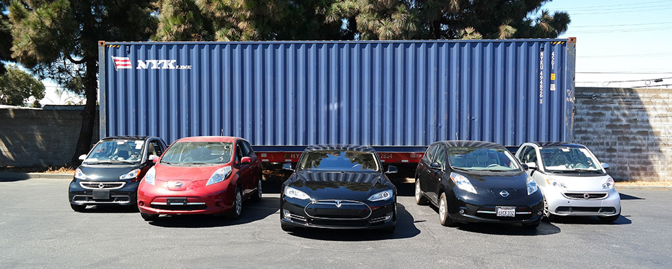Hybrid and electric car shipping from the USA to Ukraine