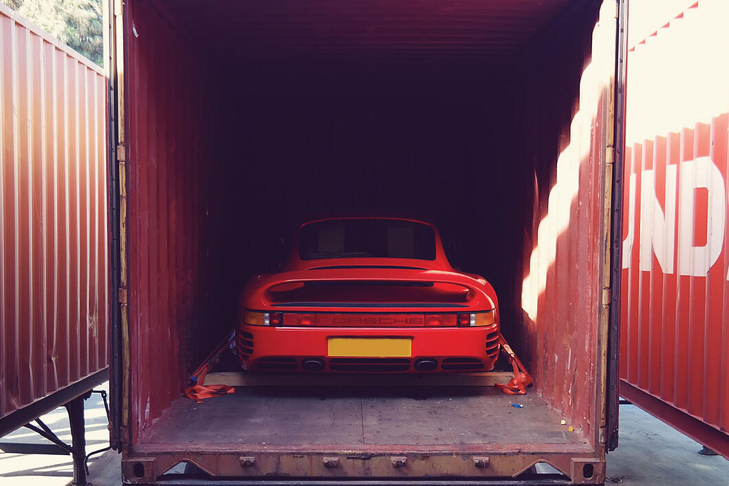 Porsche 959 container usa auto import