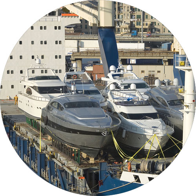 Boats on roro vessel