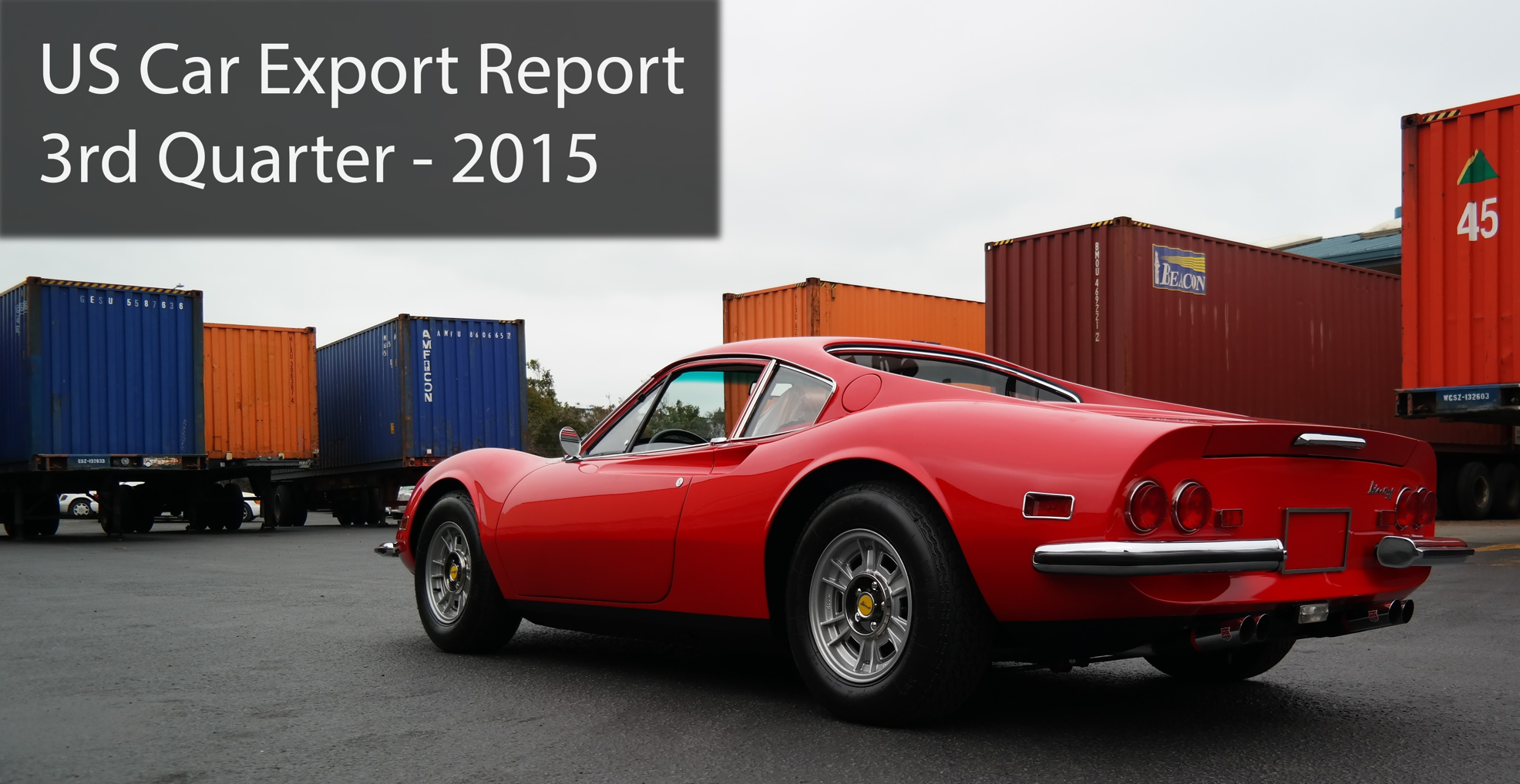 International Car Shipping Top Destinations 2015 Q3