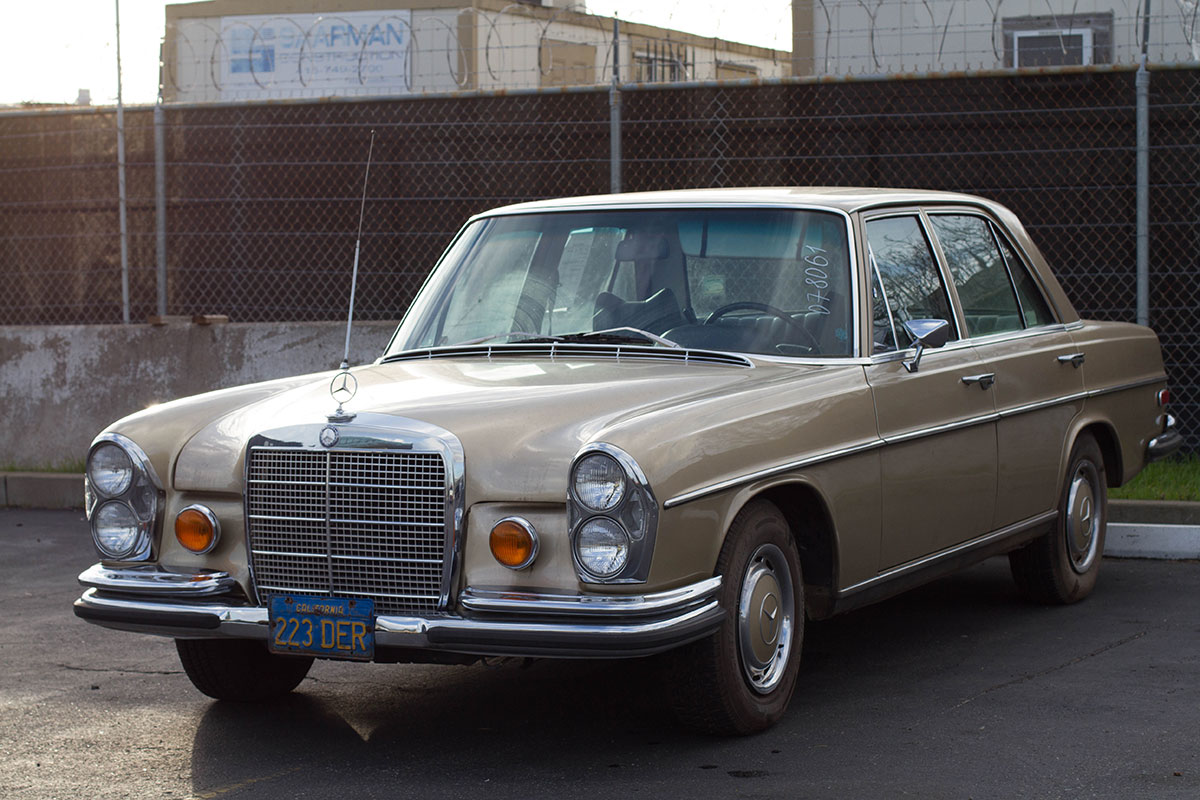 Mercedes sedan from California export