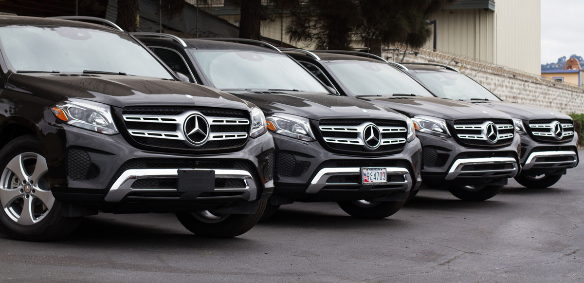 New Mercedes GLS top usa car export container