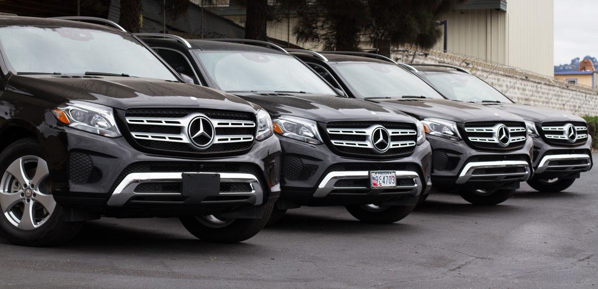 New Mercedes GLS top usa car export container