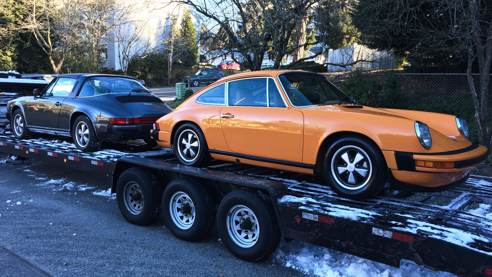 US Classic Porsches in the Snow