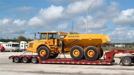 Tractor transport overseas
