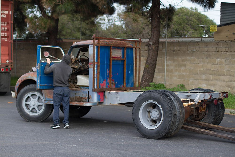 Barn Find Diamond T Truck from the USA to Australia