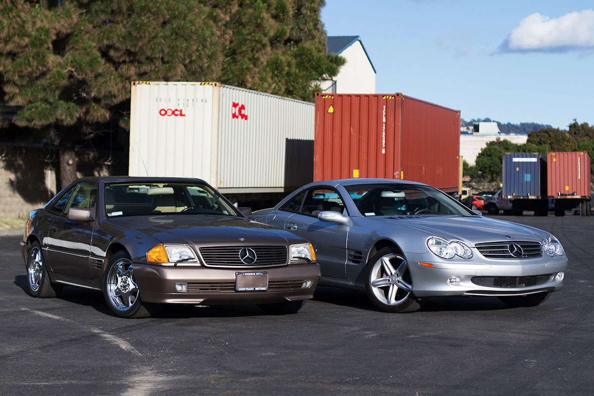 These 2 Mercedes met on their way overseas
