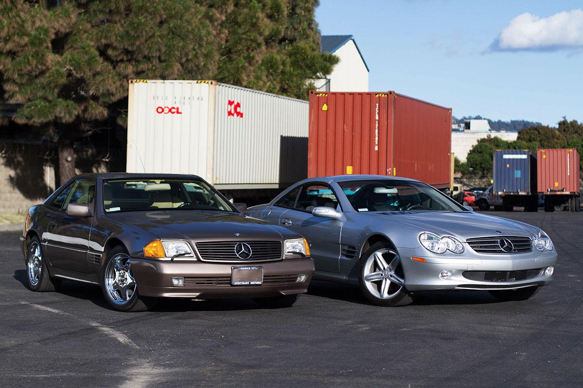 These 2 Mercedes met on their way overseas