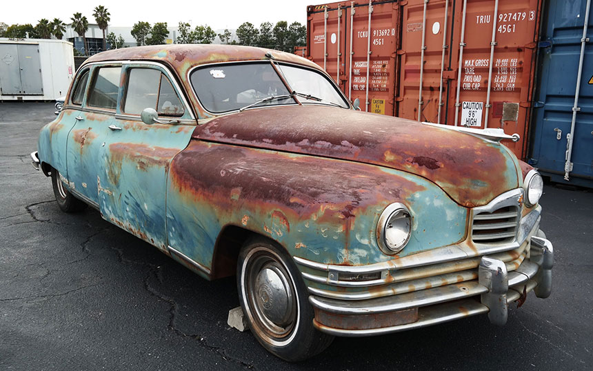 Packard Super 8 project car shipping to India