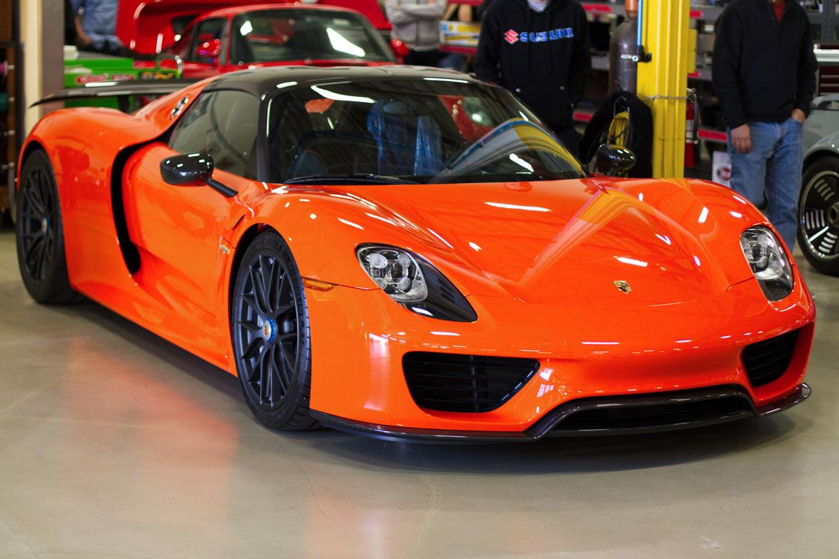 porsche-918-orange-canepa-side