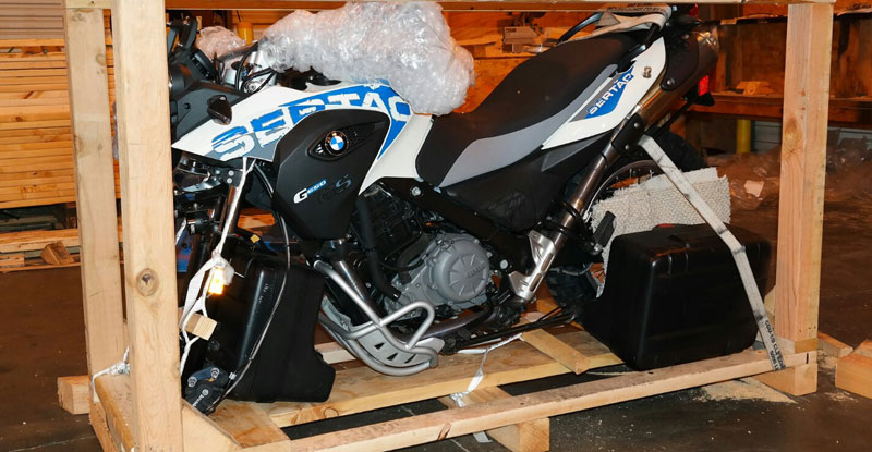 Crated Motorcycle