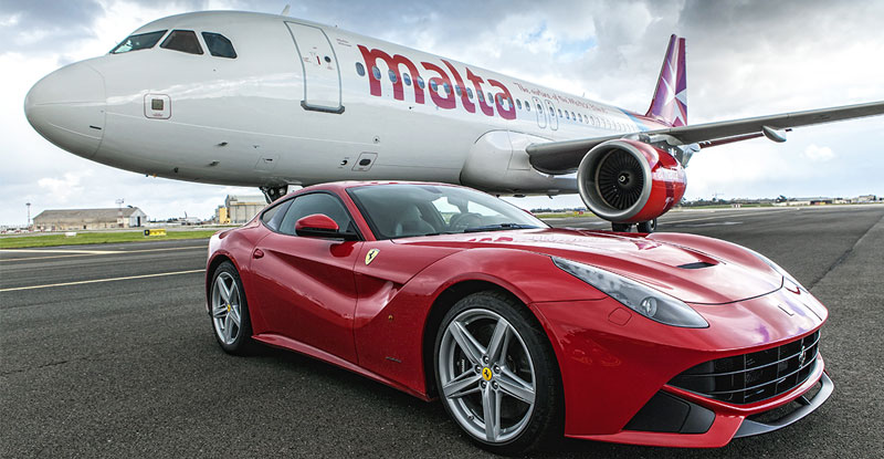 Ferrari F12 Airplane