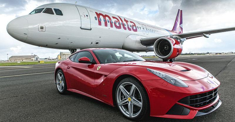 Ferrari F12 Airplane