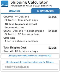 International Car Shipping Dealer Calculator